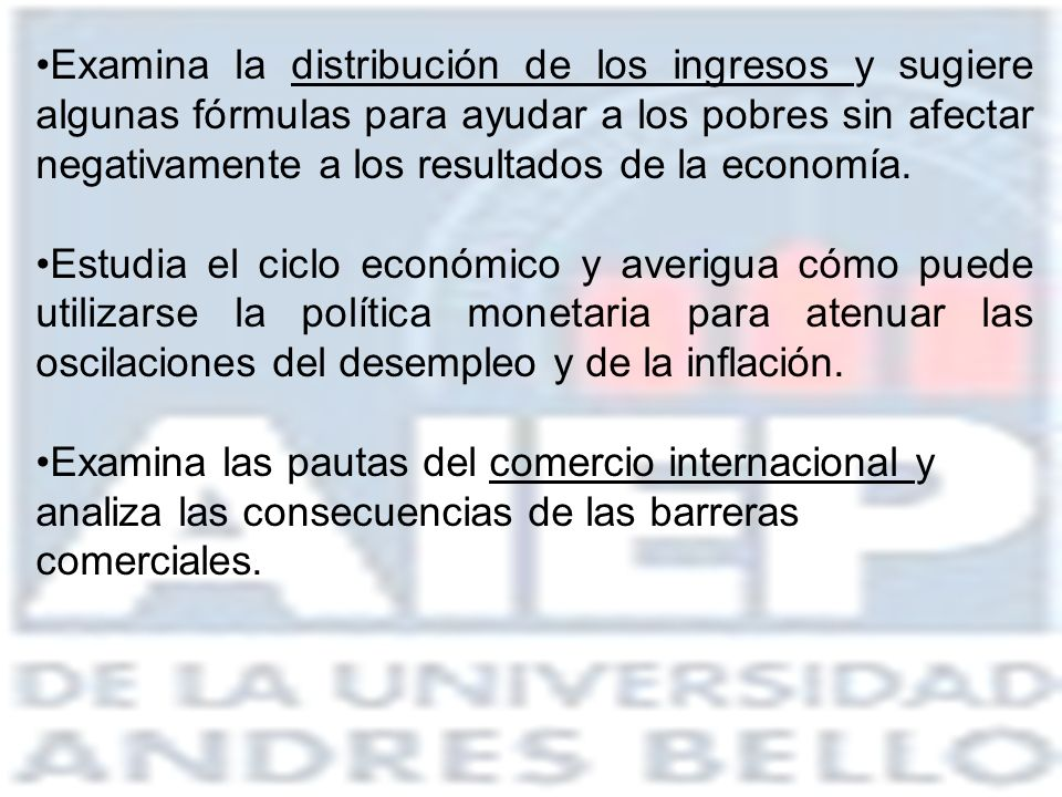 Examina la distribución de los ingresos y sugiere algunas fórmulas para ayudar a los pobres sin afectar negativamente a los resultados de la economía.