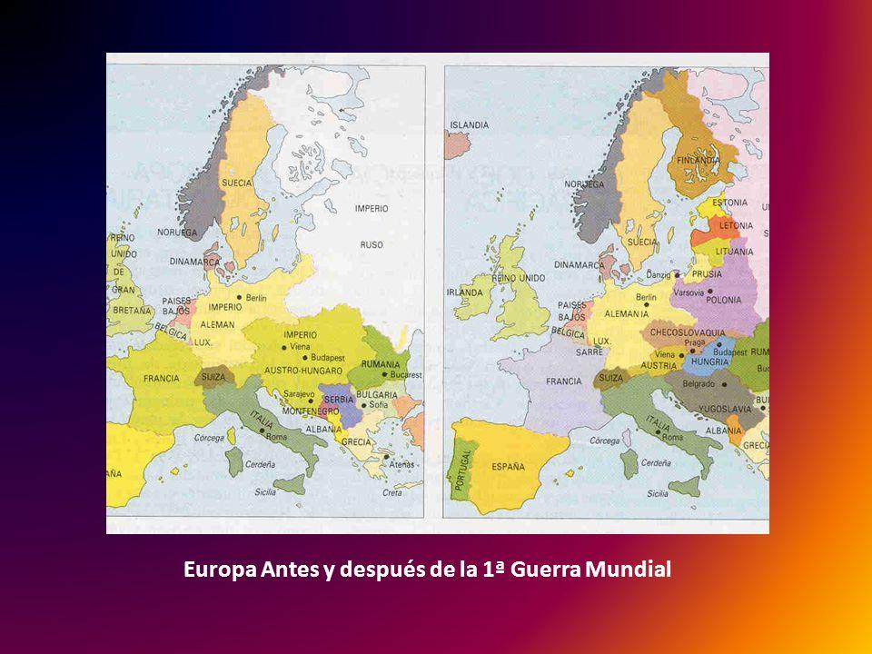Europa Antes y después de la 1ª Guerra Mundial