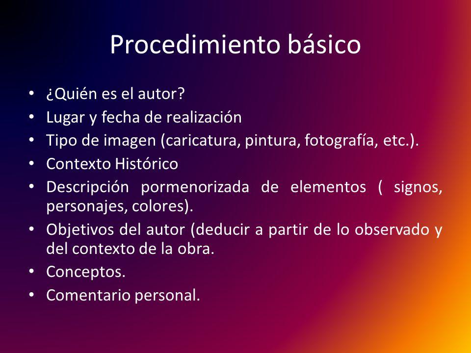 Procedimiento básico ¿Quién es el autor.