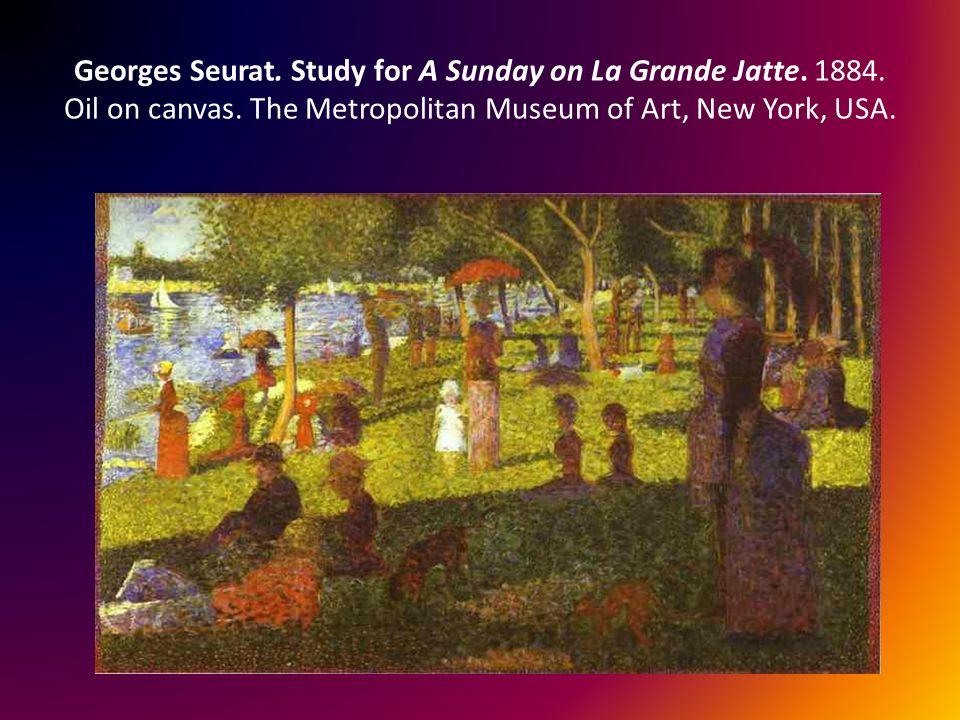 Georges Seurat.Study for A Sunday on La Grande Jatte.