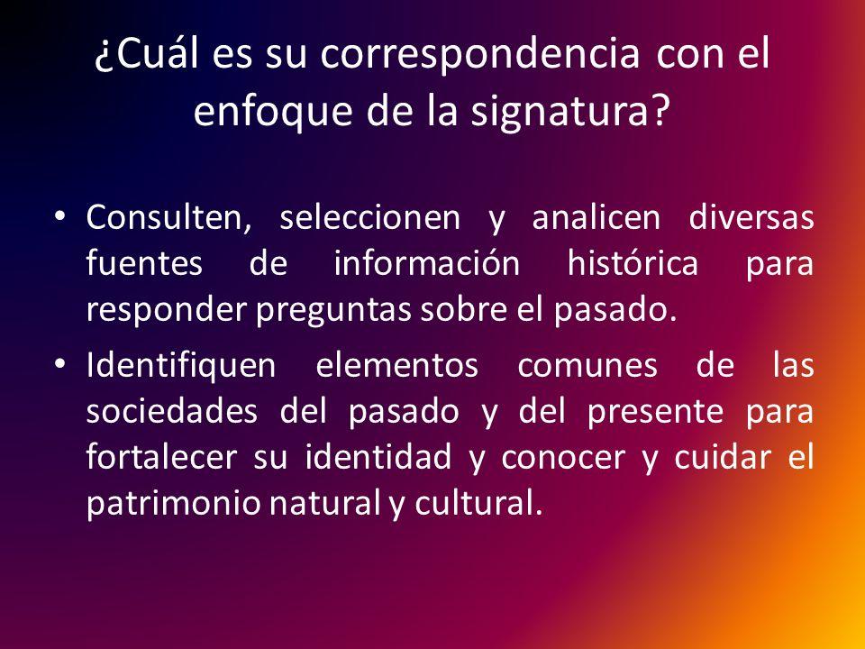 ¿Cuál es su correspondencia con el enfoque de la signatura.