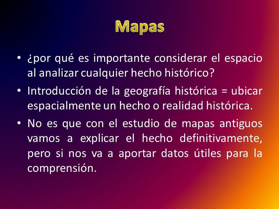 No se trata de un estudio estático.Hay diversos tipos de mapas históricos: De situación ¿….
