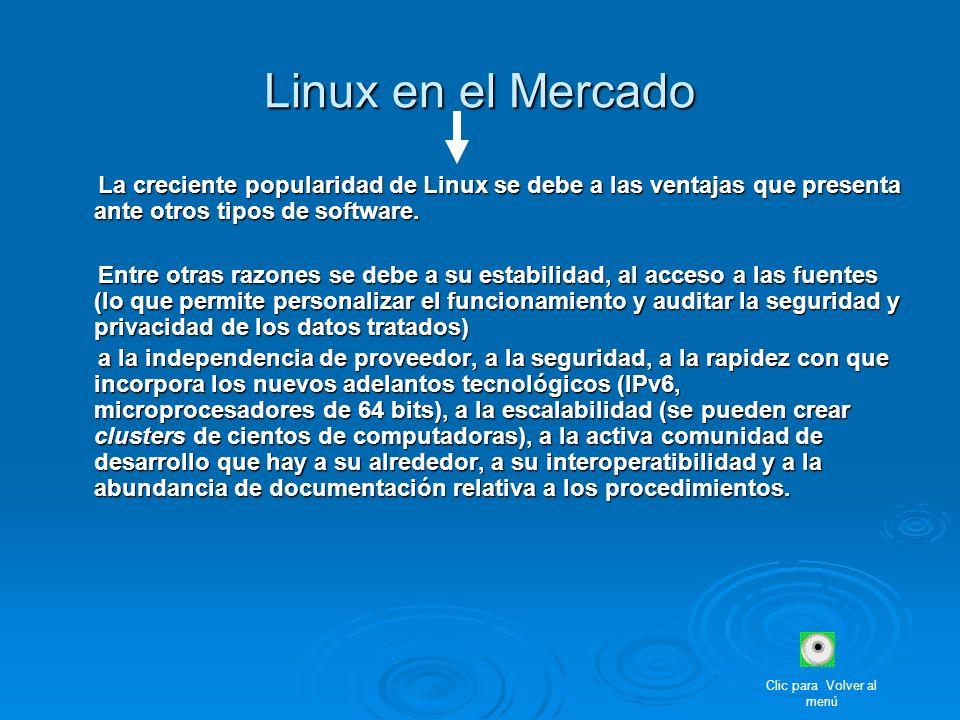 La creciente popularidad de Linux se debe a las ventajas que presenta ante otros tipos de software. La creciente popularidad de Linux se debe a las ve