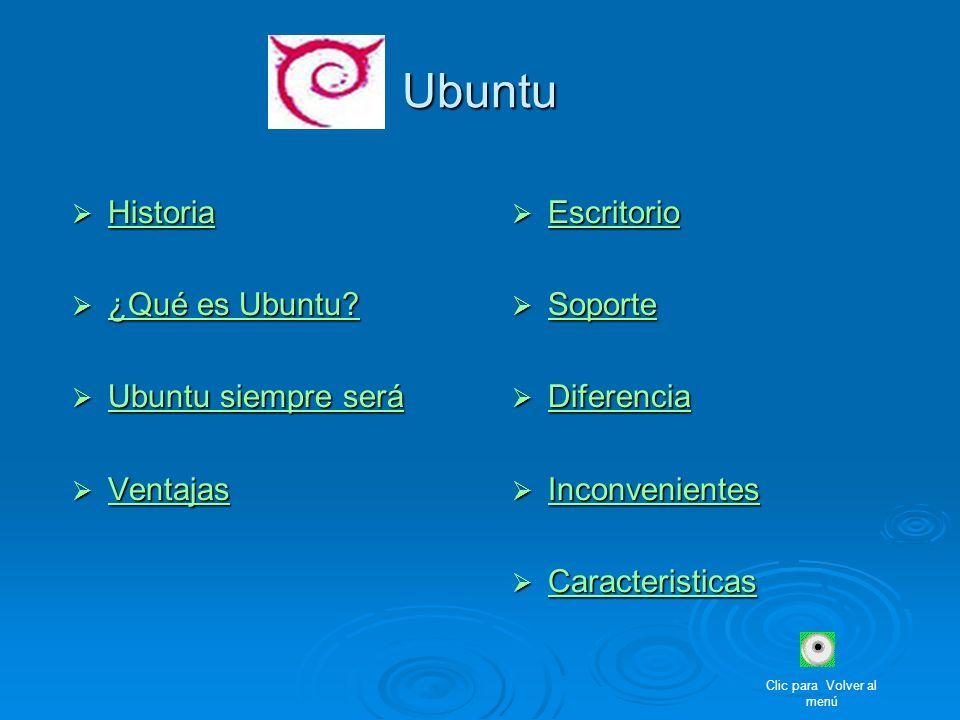 Ubuntu Historia Historia Historia ¿Qué es Ubuntu? ¿Qué es Ubuntu? ¿Qué es Ubuntu? ¿Qué es Ubuntu? Ubuntu siempre será Ubuntu siempre será Ubuntu siemp