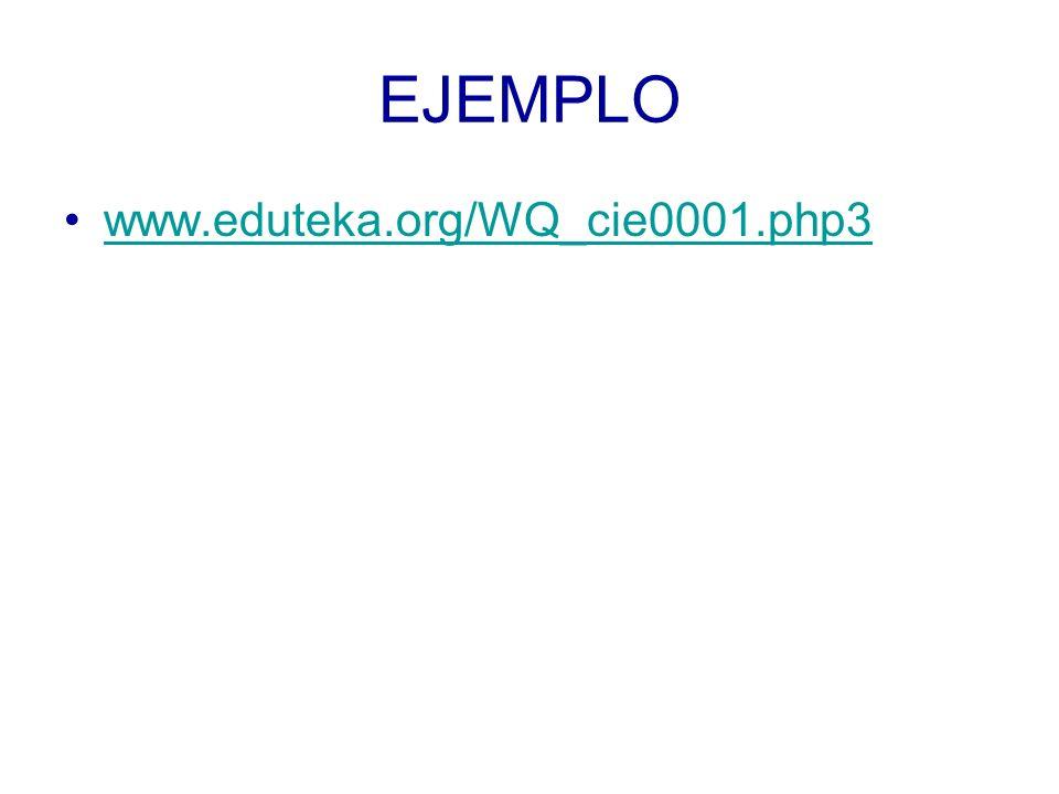 EJEMPLO www.eduteka.org/WQ_cie0001.php3