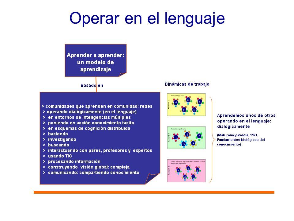 Operar en el lenguaje