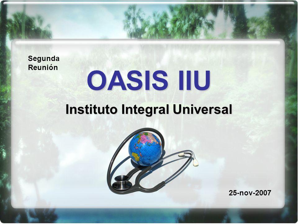 OASIS IIU Instituto Integral Universal Segunda Reunión 25-nov-2007