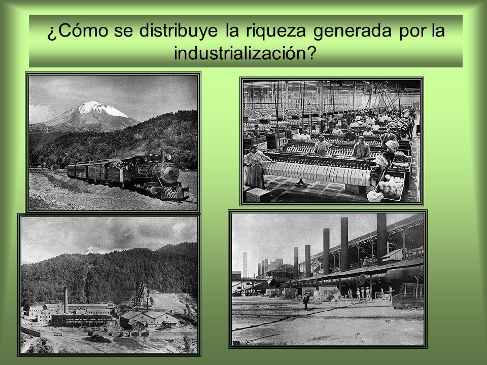¿Cómo se distribuye la riqueza generada por la industrialización?