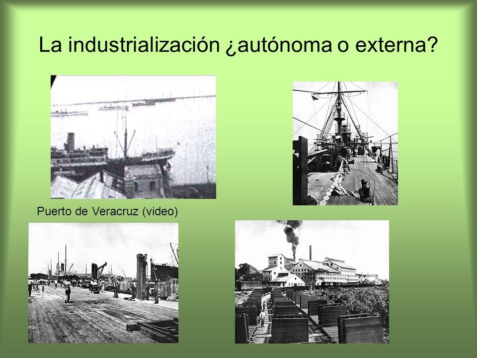 La industrialización ¿autónoma o externa? Puerto de Veracruz (video)