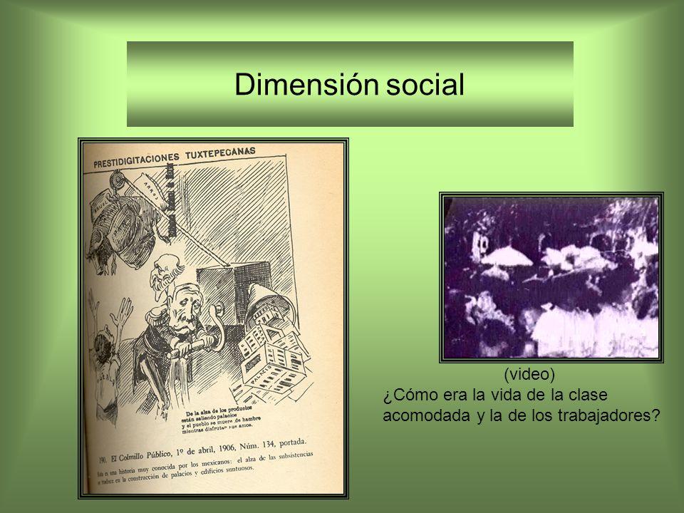 Dimensión social ¿Cómo era la vida de la clase acomodada y la de los trabajadores? (video)