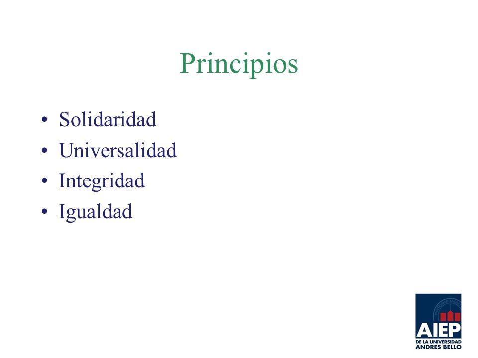 Principios Solidaridad Universalidad Integridad Igualdad