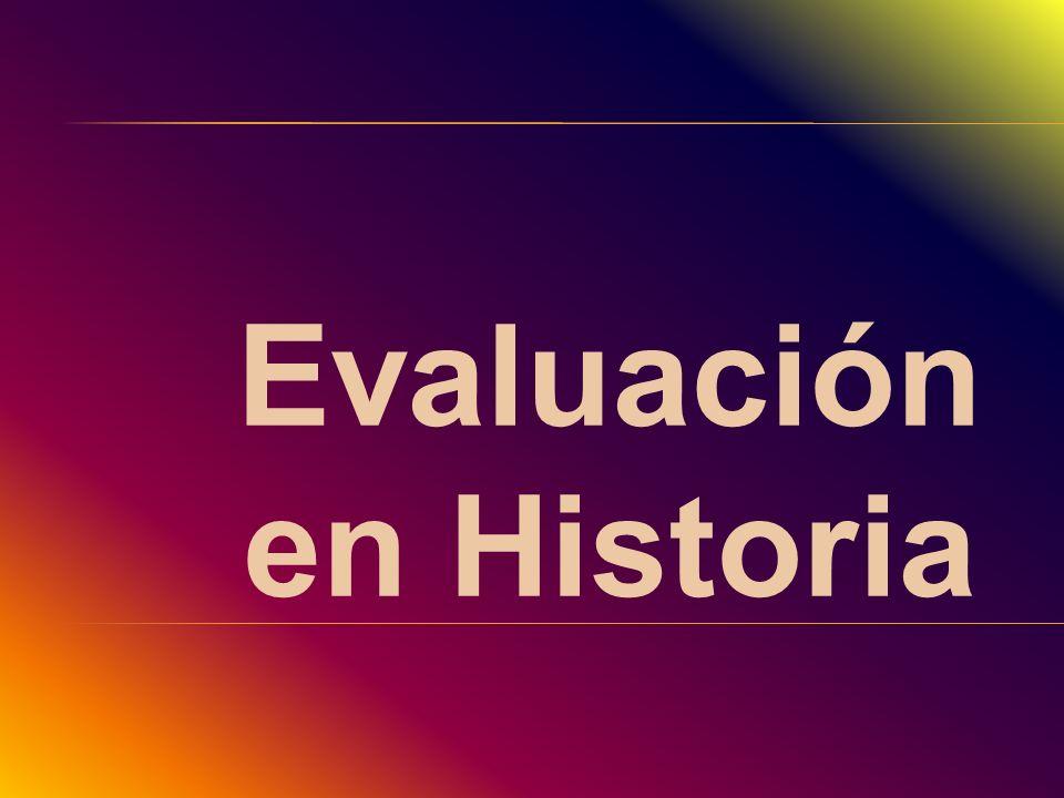 Evaluación en Historia