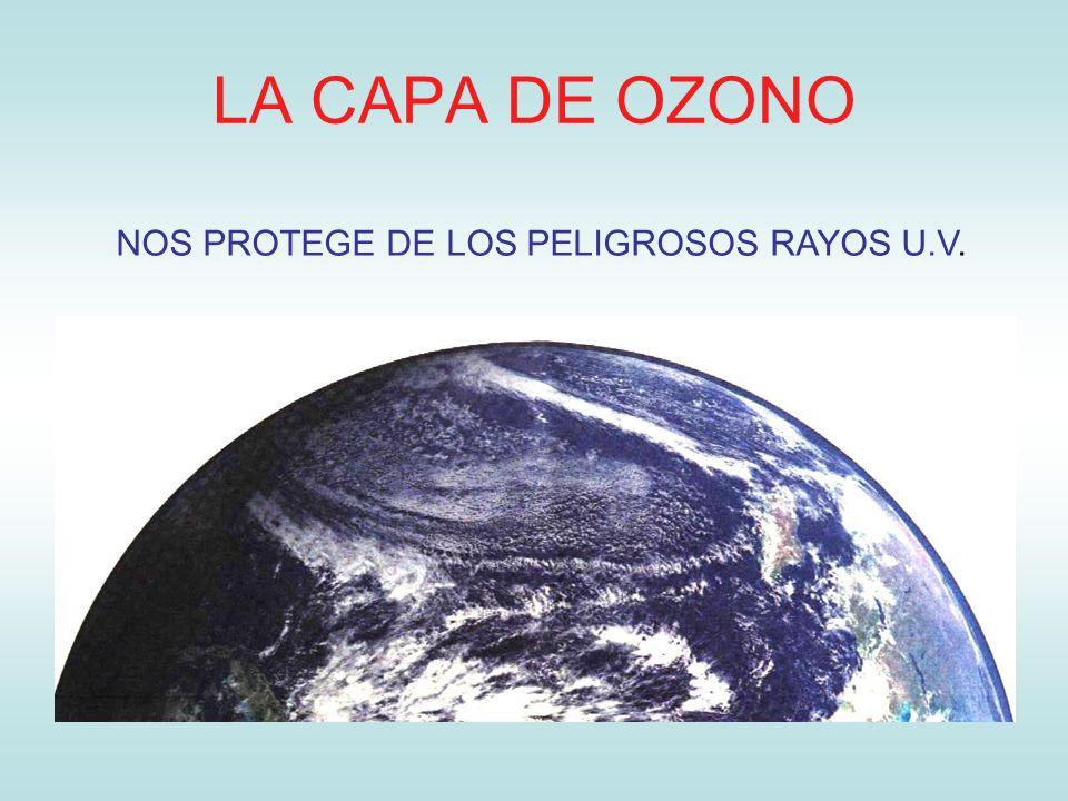 LA CAPA DE OZONO NOS PROTEGE DE LOS PELIGROSOS RAYOS U.V.