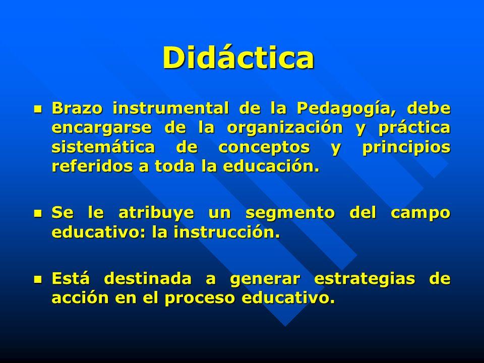 Didáctica Reflexión y sistematización teórica de la práctica educativa que, partiendo de un enfoque histórico, contextualizado de ella, aprecia el hec