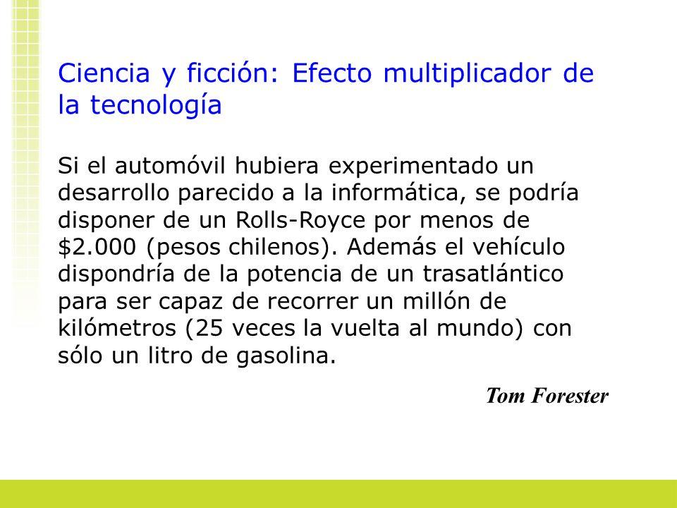 Ciencia y ficción: Efecto multiplicador de la tecnología Si el automóvil hubiera experimentado un desarrollo parecido a la informática, se podría disp