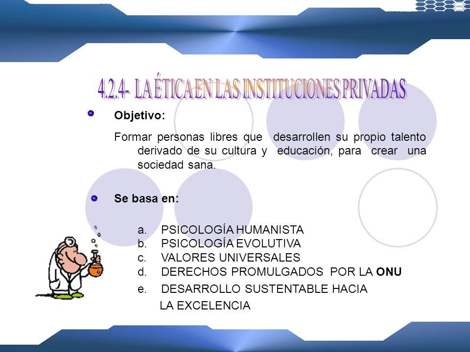 Prioridad: EDUCACIÓN INTEGRAL Factores: 1.Conativo-Volitivo 2.Epistémico-Cognoscitivo 3.Afectivo-Emotivo 4.Somático-Físico Debe tener: VALORES MORALES