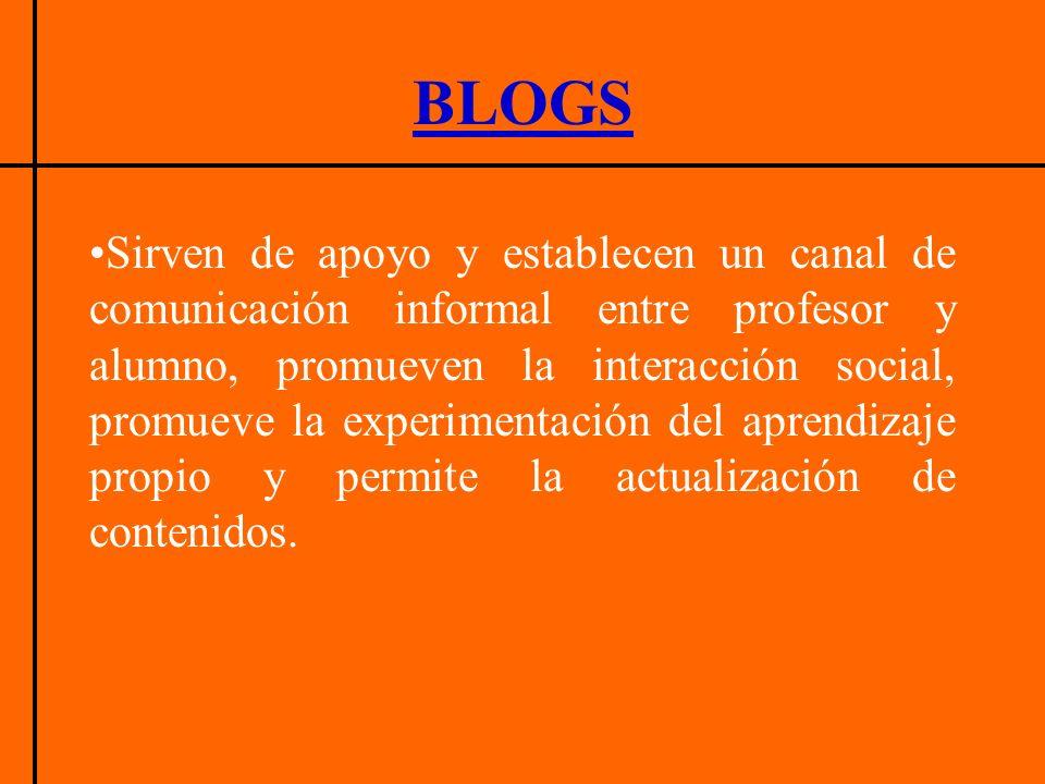 El propósito del edublog es apoyar un proceso de enseñanza –aprendizaje.