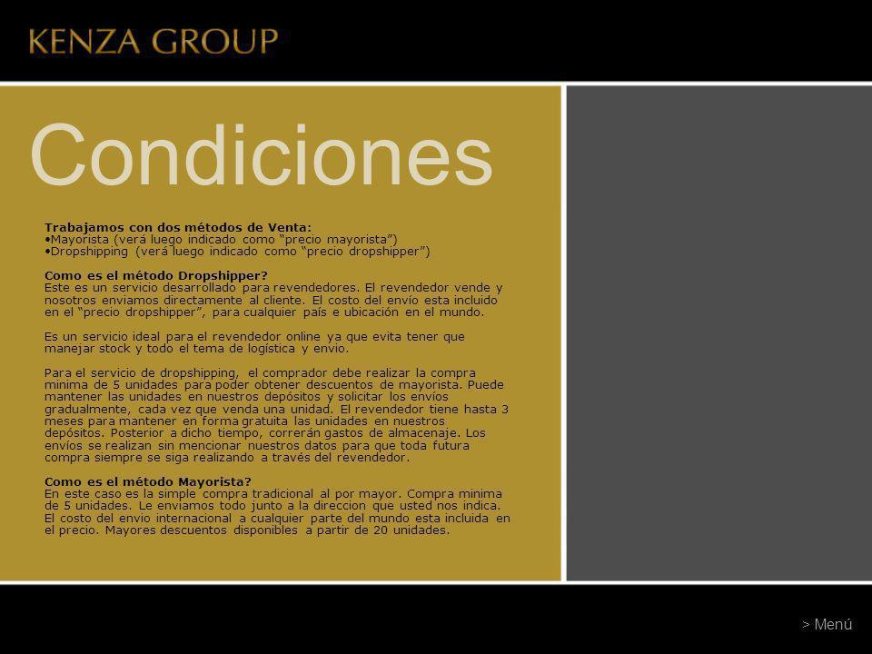 Condiciones Mínimos de Compra: La compra mínima es de 5 unidades.