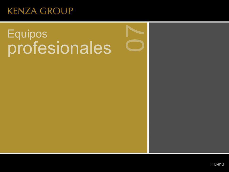 Equipos profesionales 07 > Menú