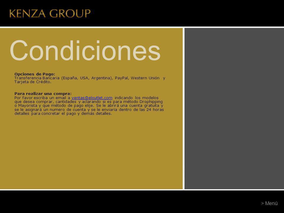 Condiciones Opciones de Pago: Transferencia Bancaria (España, USA, Argentina), PayPal, Western Unión y Tarjeta de Crédito. Para realizar una compra: P