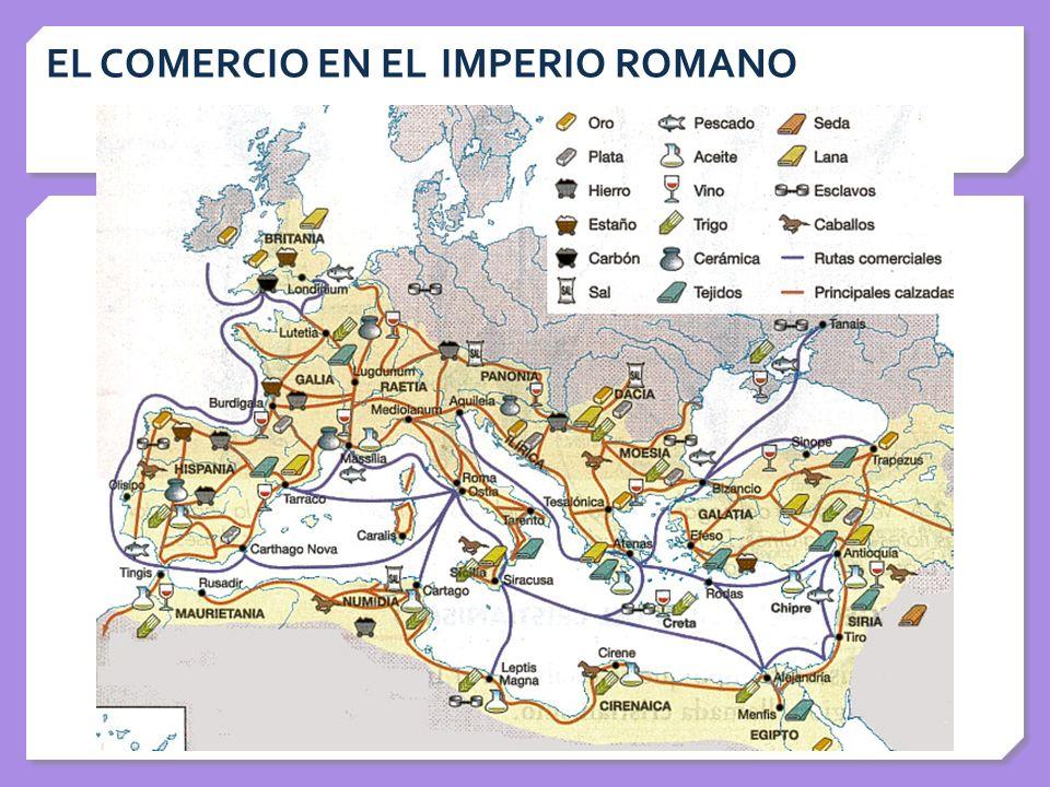 EL COMERCIO EN EL IMPERIO ROMANO