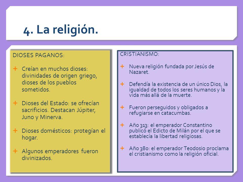 DIOSES RELIGIÓN FAMILIAR RELIGIÓN FAMILIAR: MANES o espíritus de los antepasados PENATES divinidades protectoras de la vida LARES dioses protectores del hogar