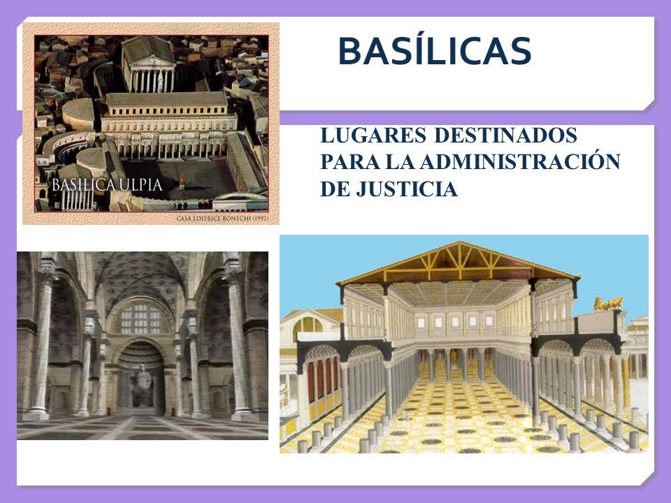 BASÍLICAS LUGARES DESTINADOS PARA LA ADMINISTRACIÓN DE JUSTICIA