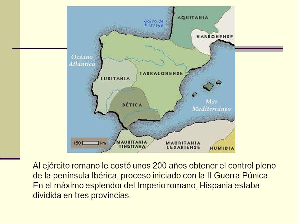 Al ejército romano le costó unos 200 años obtener el control pleno de la península Ibérica, proceso iniciado con la II Guerra Púnica. En el máximo esp