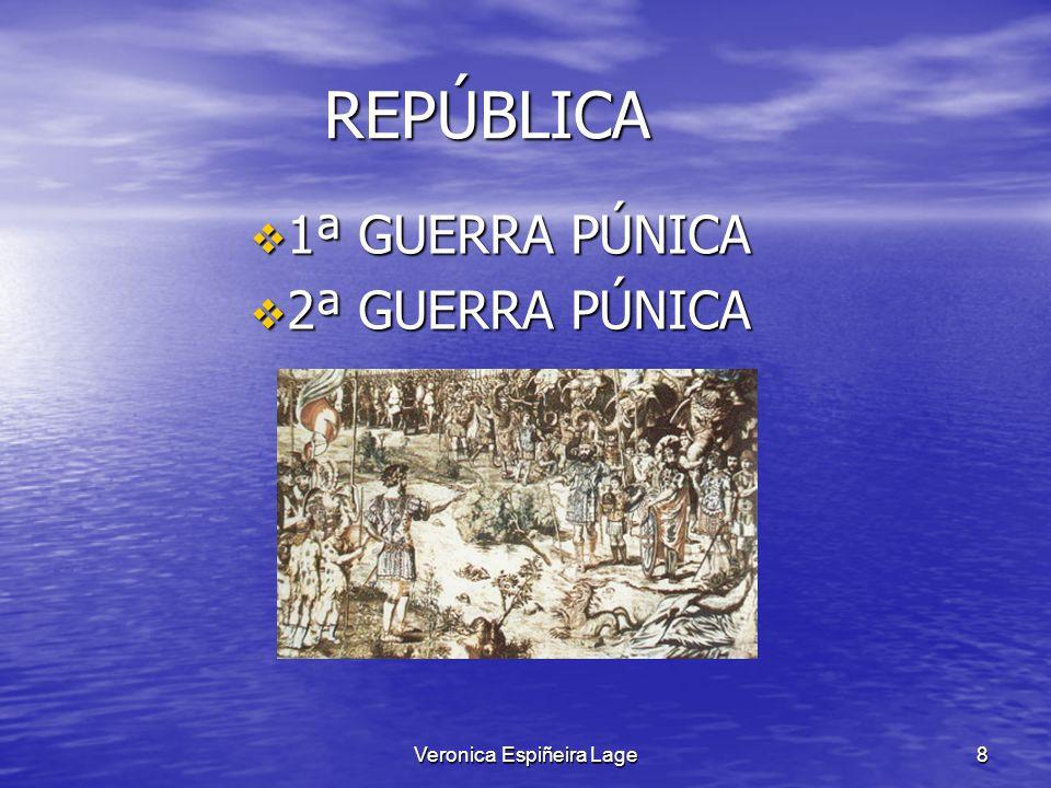 Veronica Espiñeira Lage8 REPÚBLICA REPÚBLICA 1ª GUERRA PÚNICA 1ª GUERRA PÚNICA 2ª GUERRA PÚNICA 2ª GUERRA PÚNICA