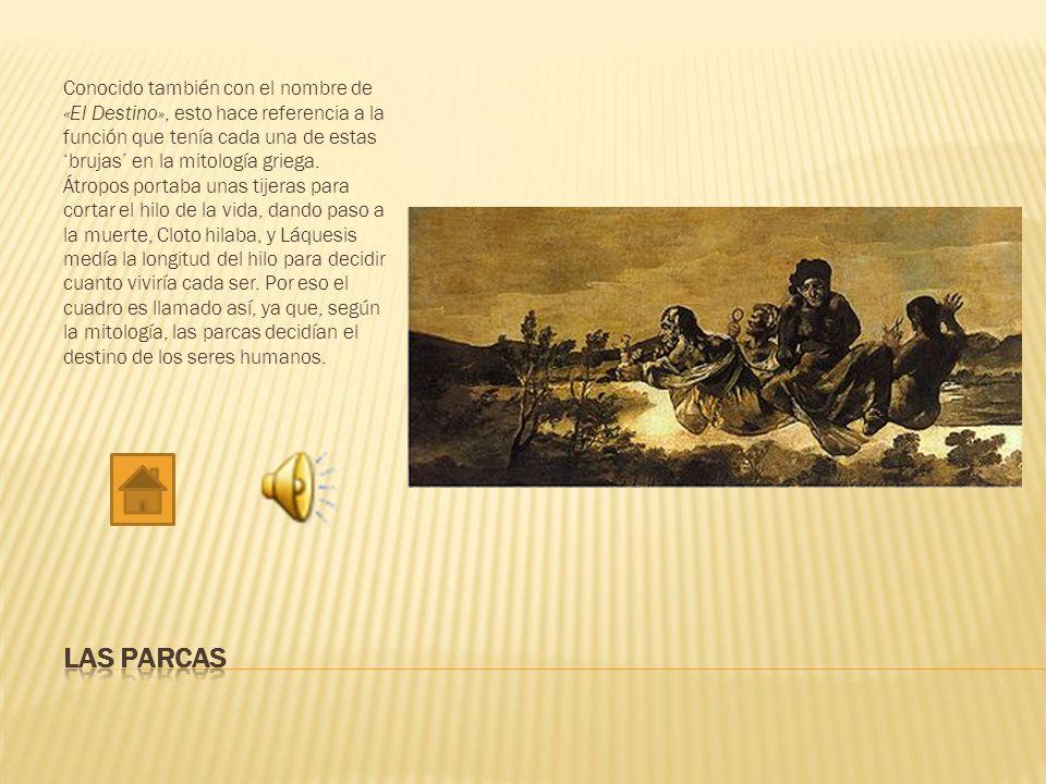 Este cuadro está en debate de si pertenece realmente a Goya o a unos de sus discípulos.