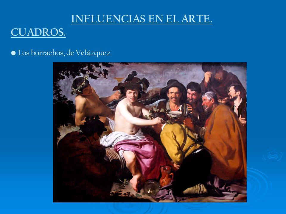 INFLUENCIAS EN EL ARTE. CUADROS. Los borrachos, de Velázquez.