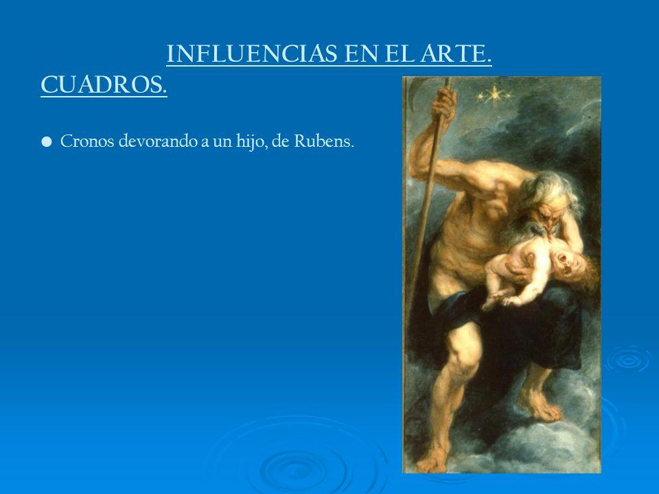 INFLUENCIAS EN EL ARTE. CUADROS. Cronos devorando a un hijo, de Rubens.