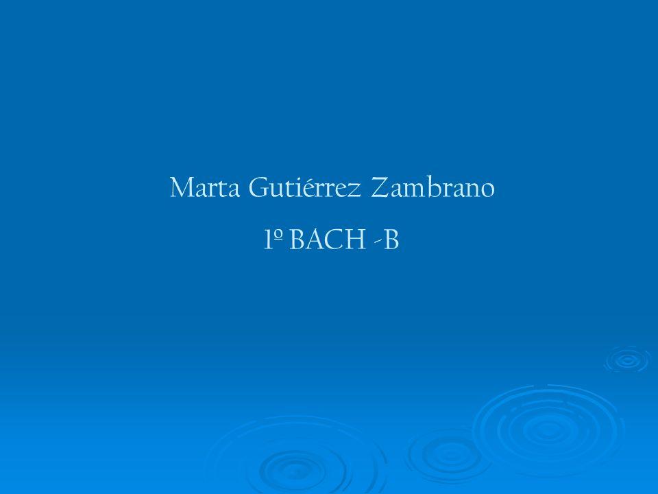 Marta Gutiérrez Zambrano 1º BACH -B