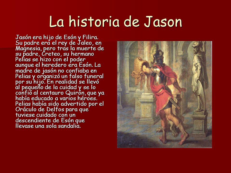 La historia de Jason Tiempo después, cuando Jasón regresó a jaleo tuvo que superar un río.