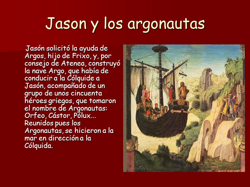 Jason y los argonautas No mucho después llegaron a la isla de Lemnos, donde sólo habitaban mujeres.
