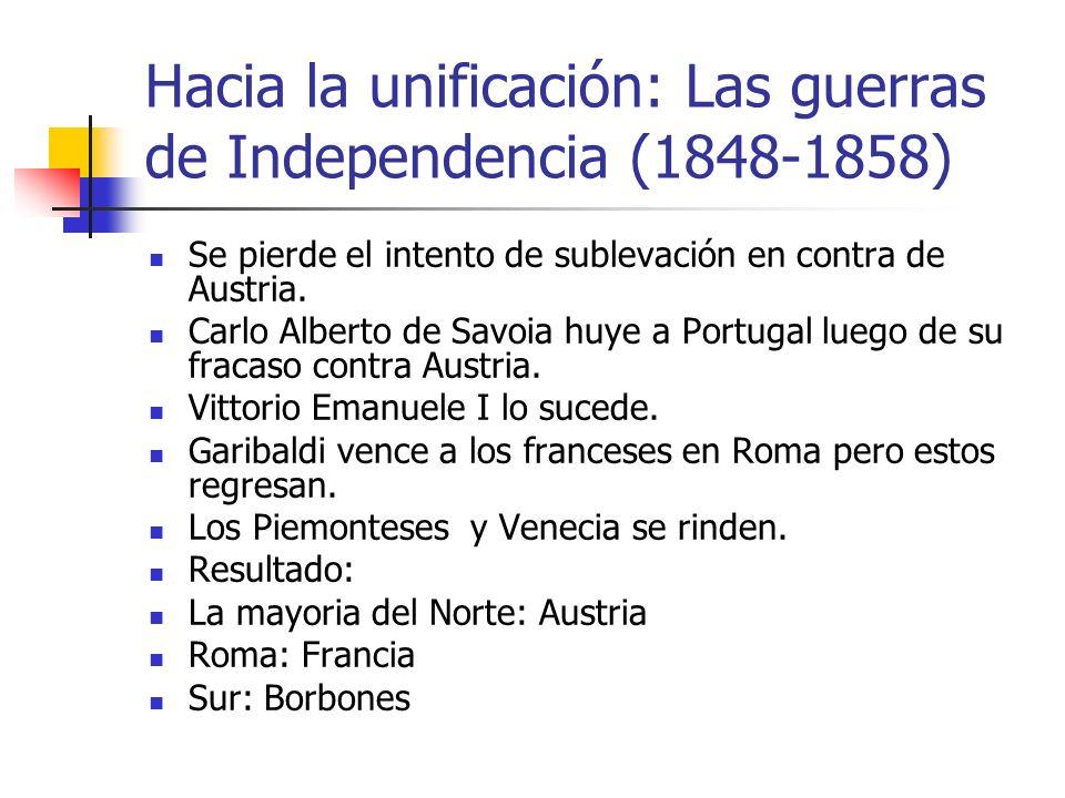 La segunda guerra de independencia se da en 1859.