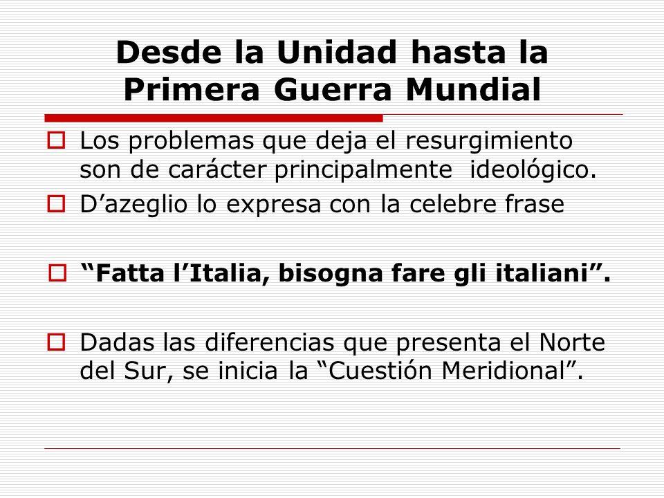 El Nacimiento de la República En 1948, entra en vigor la Constitución Italiana que todavía rige el destino del país hoy en día.