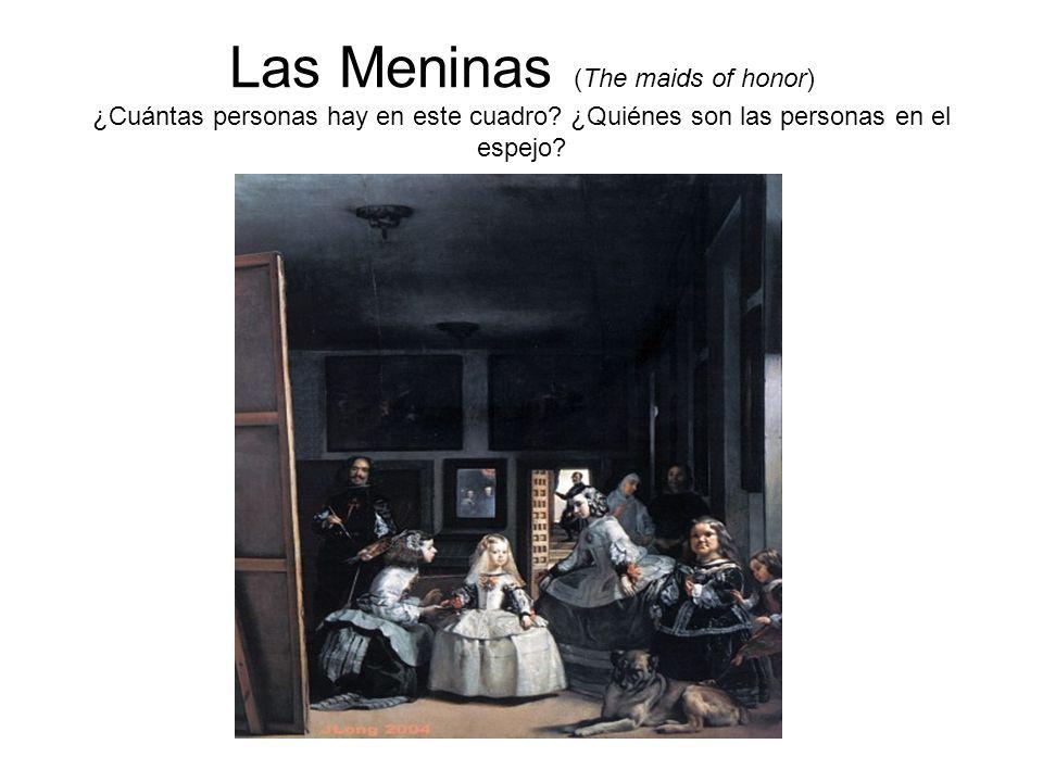 Las Meninas (The maids of honor) ¿Cuántas personas hay en este cuadro? ¿Quiénes son las personas en el espejo?