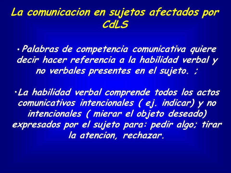 La comunicacion en sujetos afectados por CdLS Palabras de competencia comunicativa quiere decir hacer referencia a la habilidad verbal y no verbales p