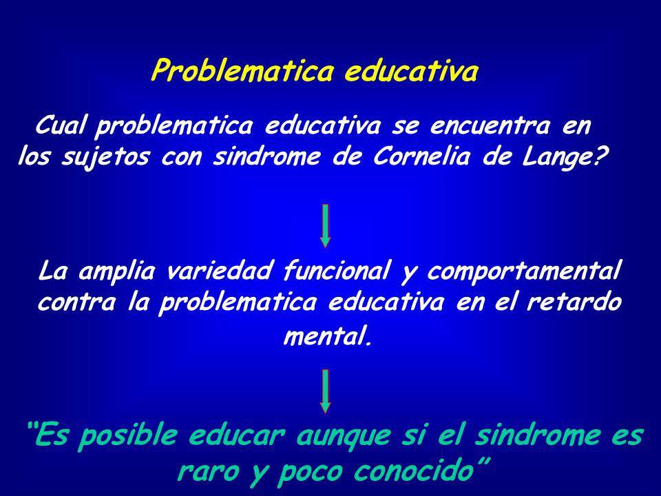 La amplia variedad funcional y comportamental contra la problematica educativa en el retardo mental. Cual problematica educativa se encuentra en los s