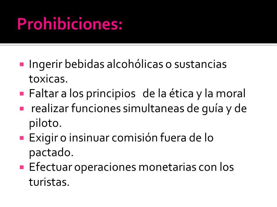 Ingerir bebidas alcohólicas o sustancias toxicas.
