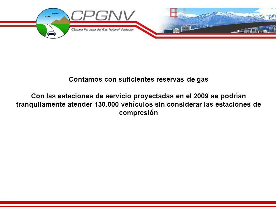 Contamos con suficientes reservas de gas Con las estaciones de servicio proyectadas en el 2009 se podrían tranquilamente atender 130.000 vehículos sin