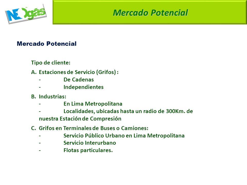 Mercado Potencial Tipo de cliente: A.