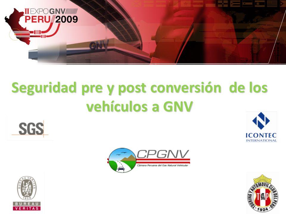 NORMA TECNICA PERUANA NTP 111.026 2007 PRUEBAS POSTCONVERSIÓN Las pruebas del estado y funcionamiento del vehículo con GNV y/o gasolina son las siguientes: