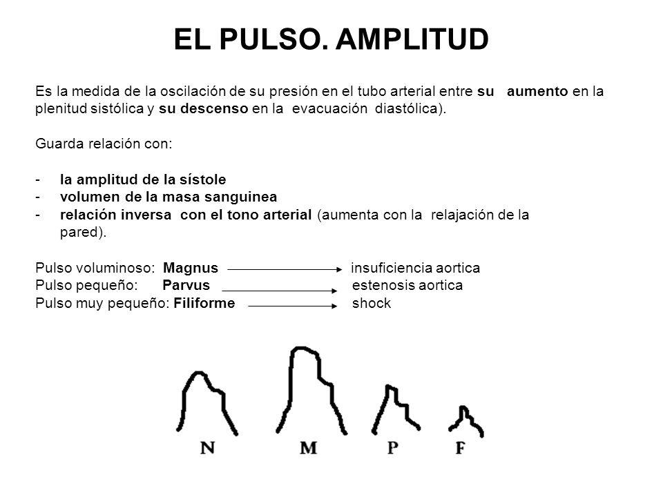 Es la medida de la oscilación de su presión en el tubo arterial entre su aumento en la plenitud sistólica y su descenso en la evacuación diastólica).