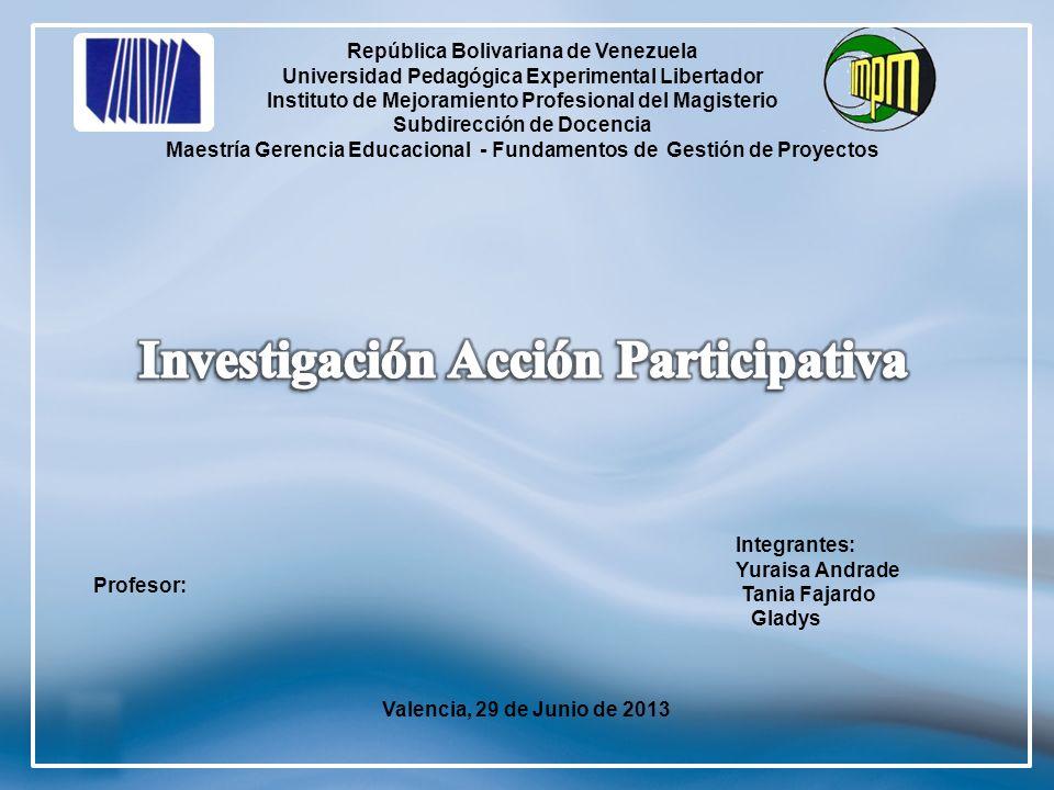 2 República Bolivariana de Venezuela Universidad Pedagógica Experimental Libertador Instituto de Mejoramiento Profesional del Magisterio Subdirección