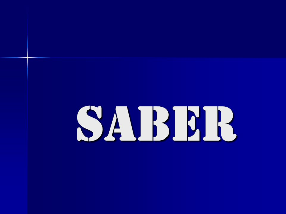 saber to know how to do something