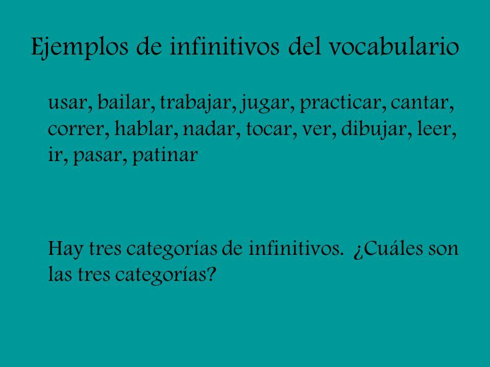 Las tres categorías Entre las palabras que he dado, hay una similitud.