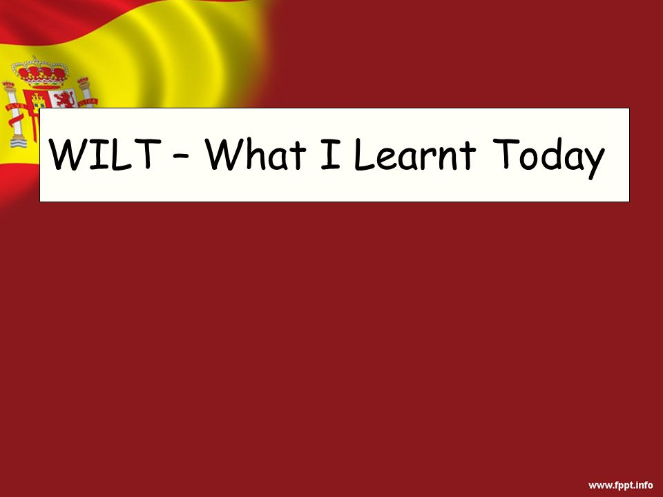 WILT – What I Learnt Today