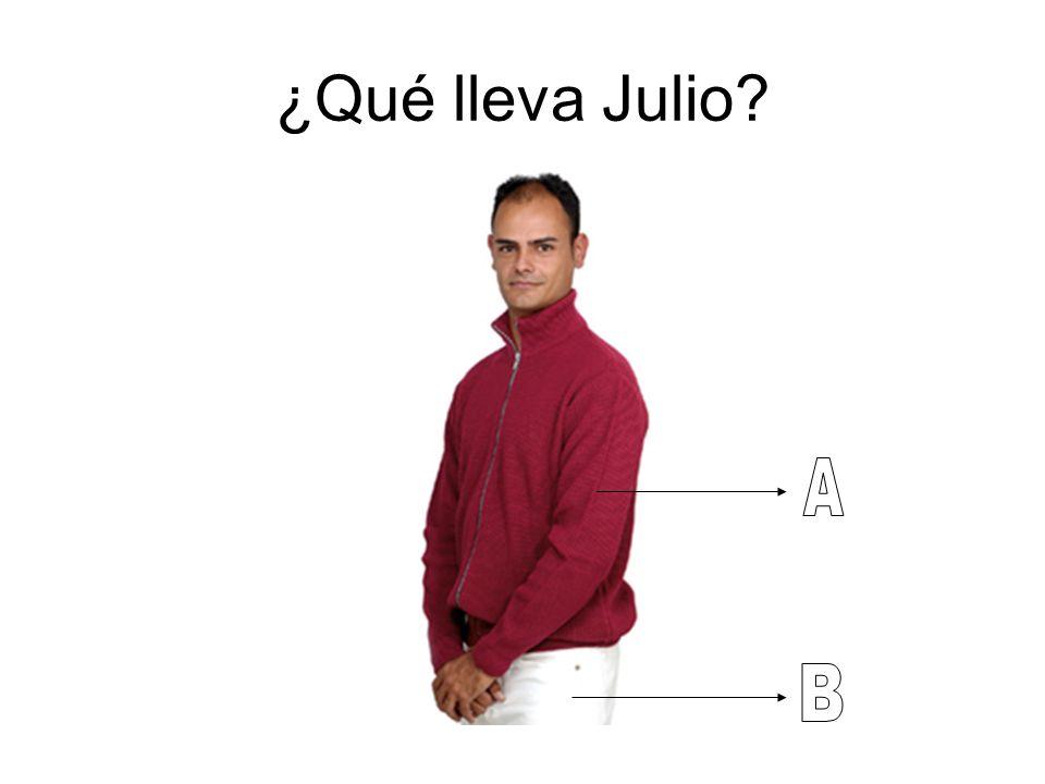 ¿Qué lleva Julio?